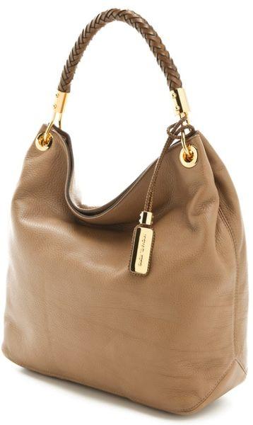 Discount Code For Michael Kors Skorpios Shoulder - Bags Michael Kors Collection Skorpios Large Shoulder Bag Desert