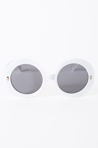 Nasty Gal Full Moon Shades in Gray (white) - Lyst