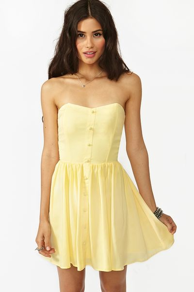 Nasty Gal Alan Dress in Yellow - Lyst