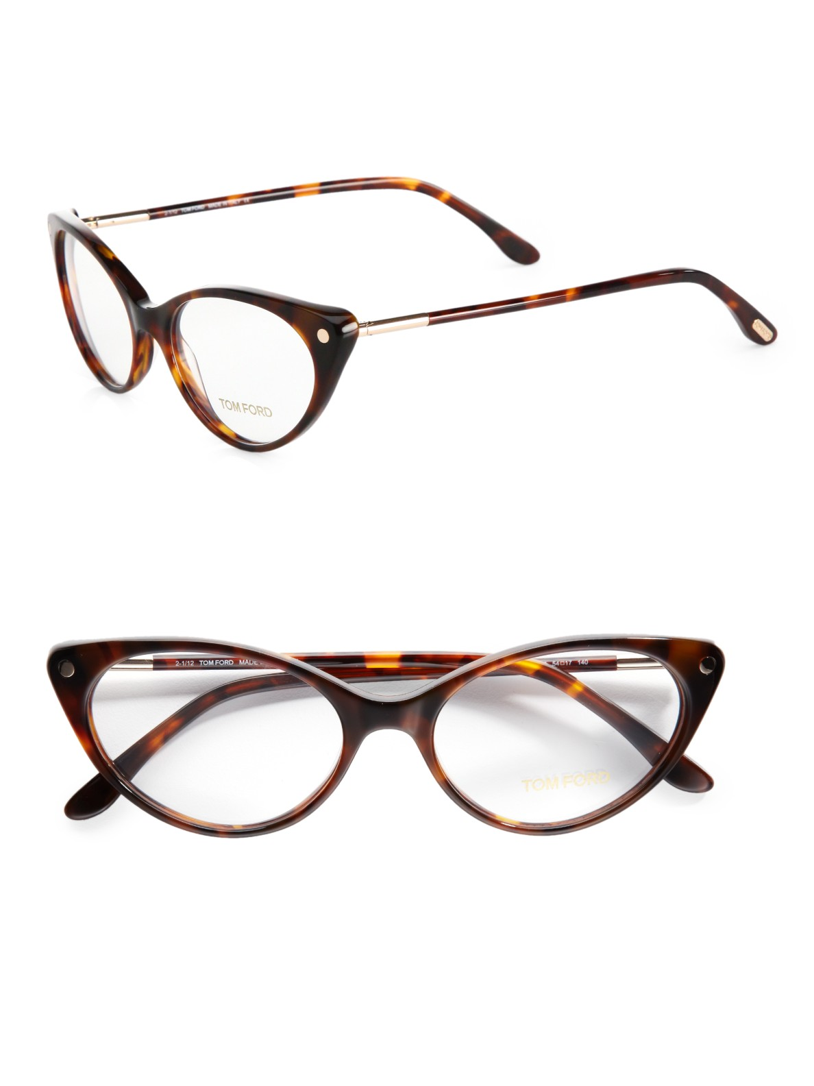 Eyeglass Frames Modern : Tom ford Modern Cats-Eye Plastic Eyeglasses in Brown Lyst