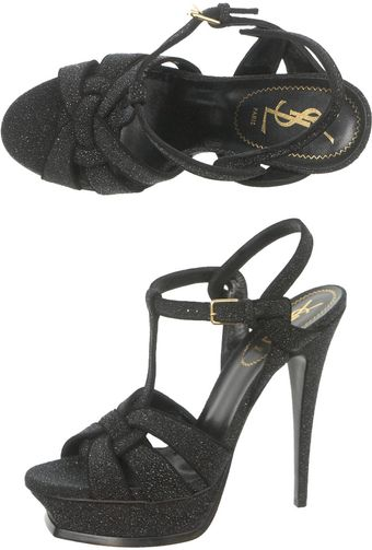 Yves Saint Laurent Tribute Quartz Sandals - Lyst