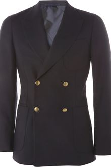 Yves Saint Laurent Double -Breasted Wool Blazer - Lyst