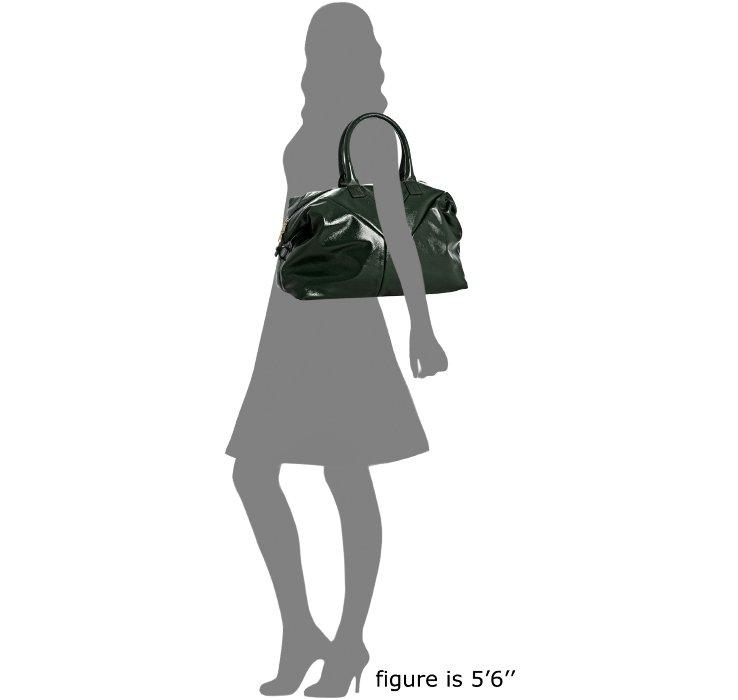 ysl clutch bag in patent calfskin