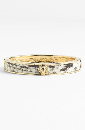 Ak Anne Klein Presidio Slim Lion Head Bangle - Lyst