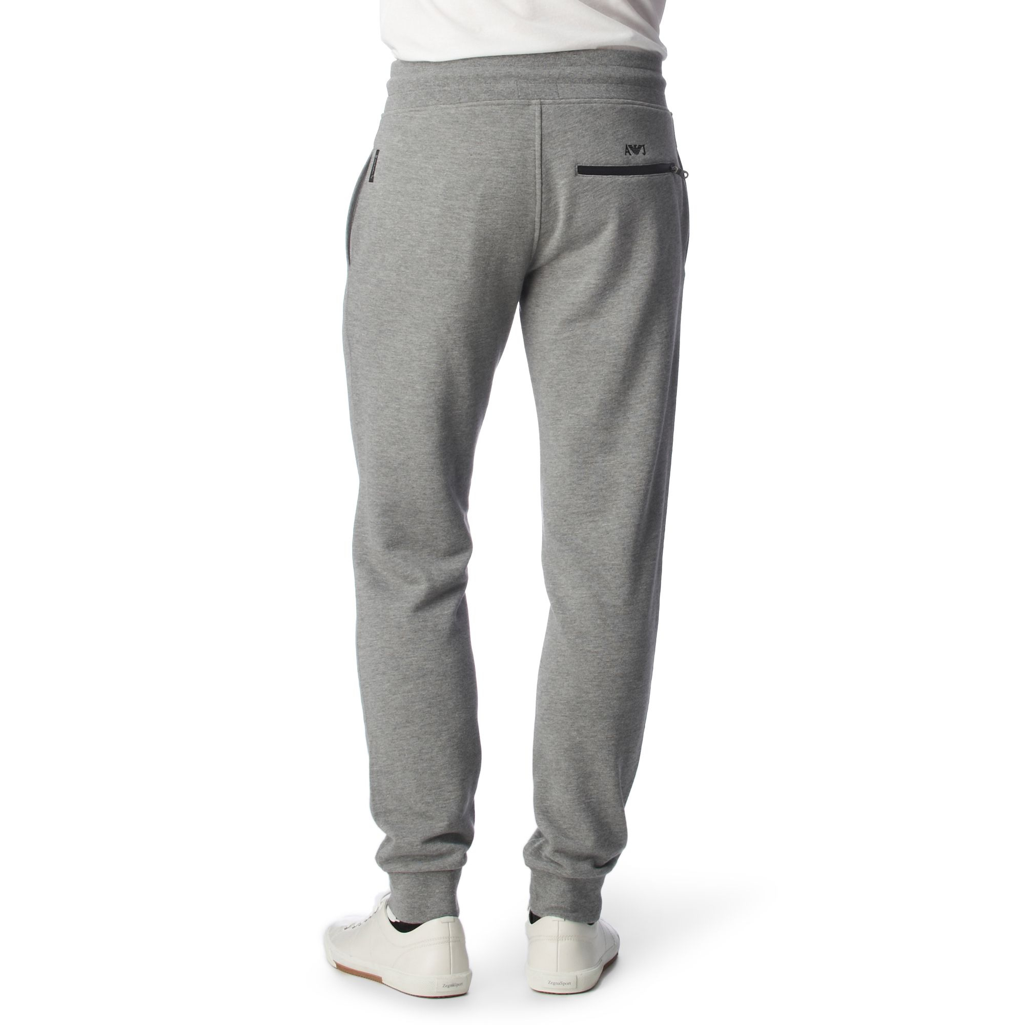 sold worldwide select for original unbeatable price Armani Jeans Jersey Jogging Bottoms in Grey (Gray) for Men ...