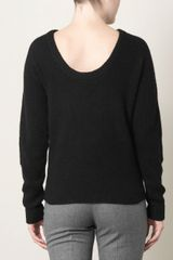 Balenciaga Scoopback Sweater in Black - Lyst