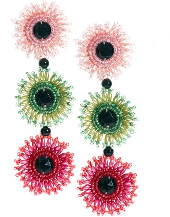 Danielle Scutt Sequin Flower Earrings - Lyst