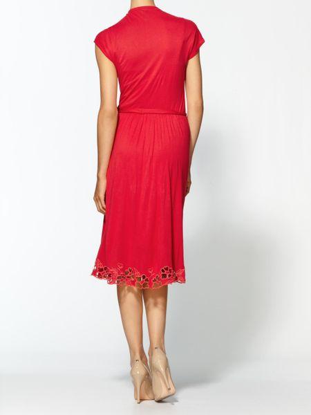 Ella Moss Faye Midi Dress In Red Cayenne Lyst