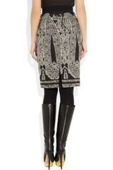 Giambattista Valli Paisley Jacquard Skirt in Gray (black) - Lyst