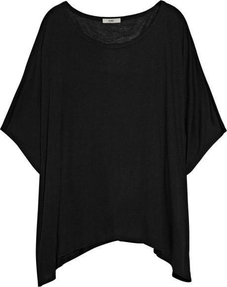Helmut Lang Kinetic Oversized Jersey Tshirt in Black - Lyst