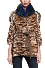 Hockley Leopard Print Fox and Raccoon Fur Coat - Lyst