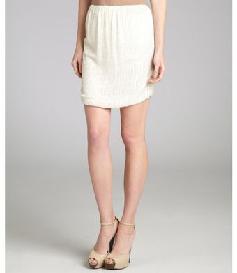 L'Agence White Beaded Silk Strapless Top - Lyst