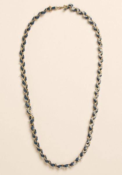 Lucky Brand Multi Media Chain Necklace in Blue (denim) - Lyst