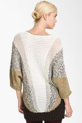 Marc By Marc Jacobs Edith Sweater in Gray (white swan multi) - Lyst