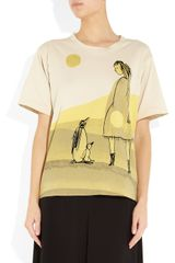 Marni Brian Reaprint Cotton Tshirt in Yellow (beige) - Lyst