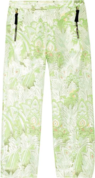 Marni Jacquard Straightleg Cropped Pants in Green (mint) - Lyst