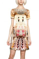 Mary Katrantzou Printed Silk Satin Dress - Lyst