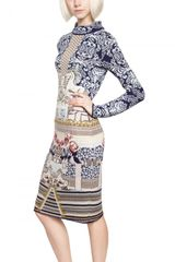 Mary Katrantzou Wool Jacquard Dress - Lyst