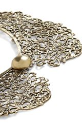 Modcloth An Ornate Fate Collar Necklace in Gold - Lyst