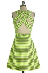 ModCloth Kiss and Tell Dress in Neon Yellow - Lyst