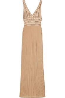 Rachel Gilbert Kaitlin Embellished Silk and Crepe Gown - Lyst