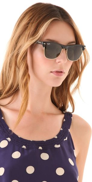 ray ban quality md9u  Ray-ban Oversized Clubmaster Sunglasses in Black
