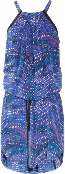 See By Chloé Las Vegas Printed Silk Dress in Blue (multicolored) - Lyst