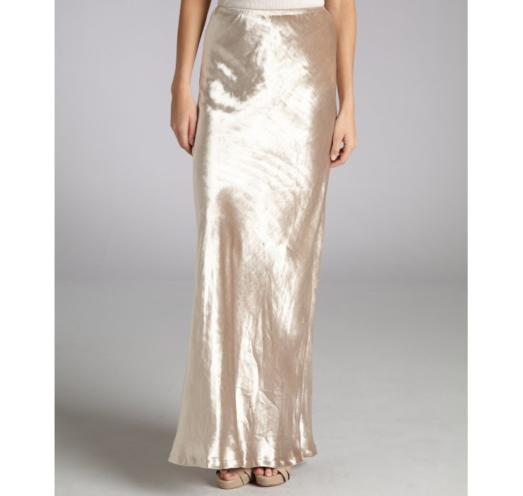 Twelfth street cynthia vincent Champagne Velvet Straight Maxi ...