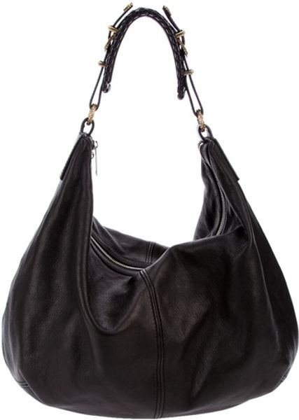 Alexander Mcqueen Slouchy Shoulder Bag in Black