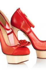 Charlotte Olympia Flora in Red - Lyst