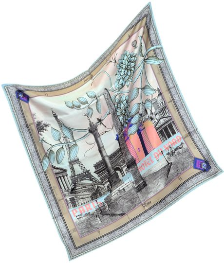 christian lacroix large silk square scarf in pink