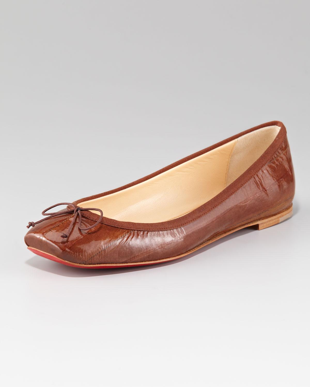 67b4c438d4b Lyst - Christian Louboutin Rosella Flat Ballerina in Brown