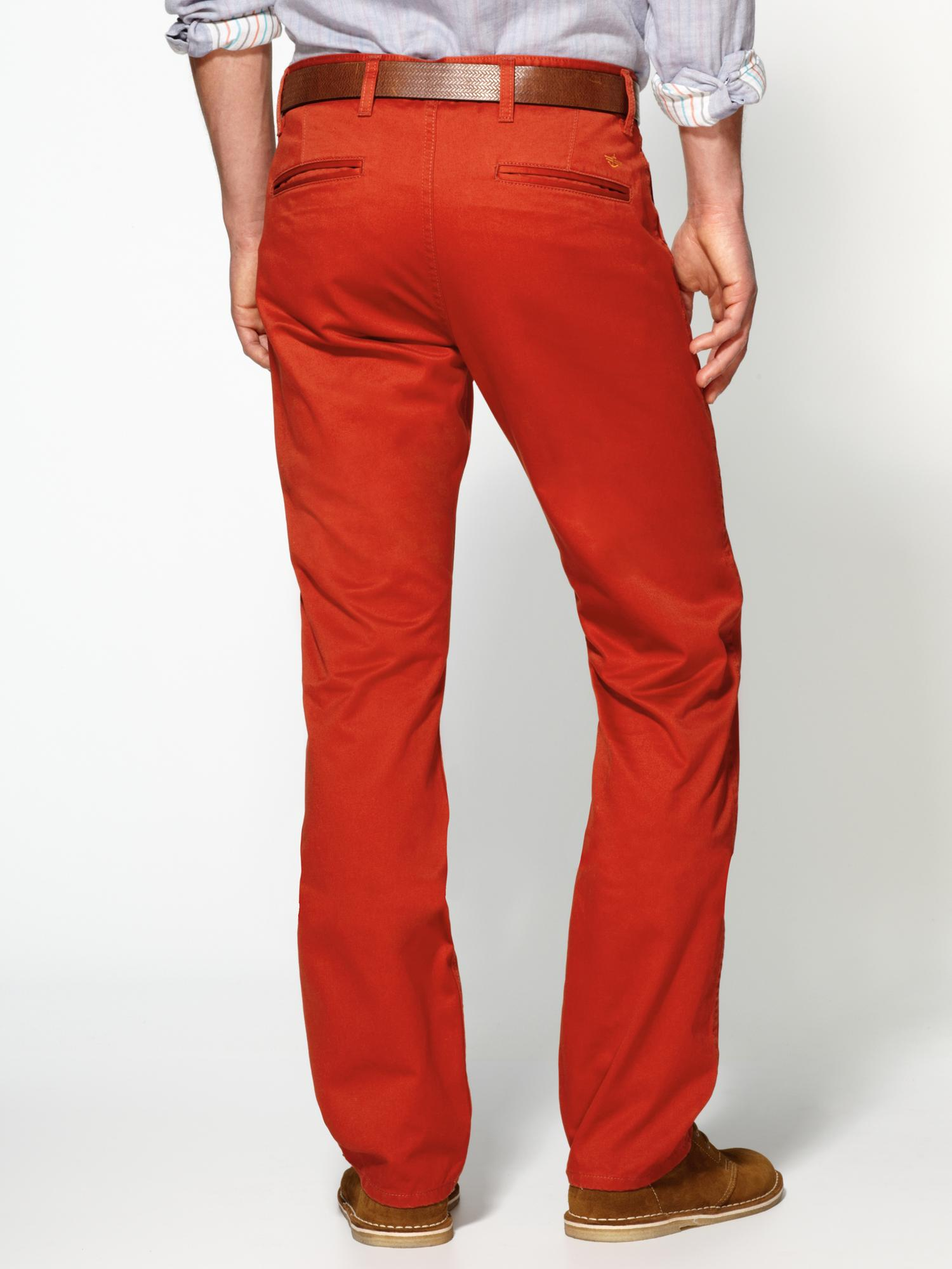 Red Khaki Pants For Men   Gpant