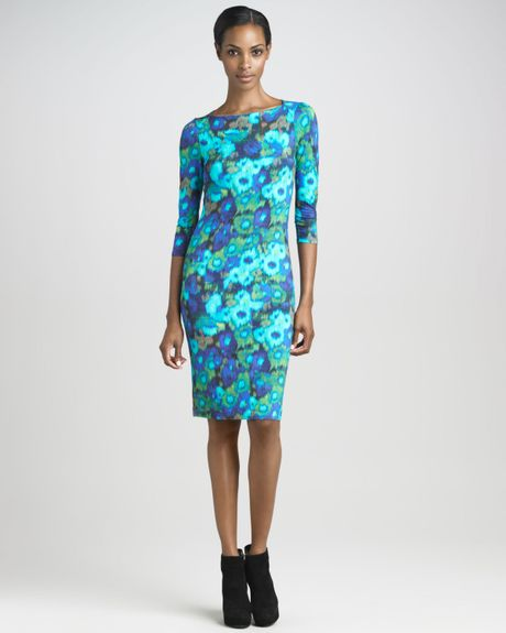 Erdem Reese Jersey Dress in Blue (green) - Lyst