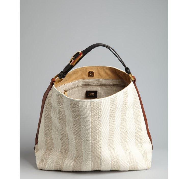 Fendi Pequin Hobo Bag