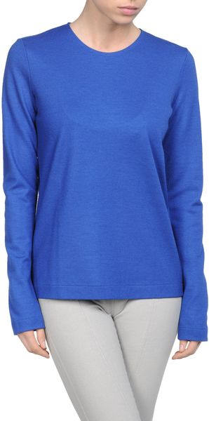 Jil Sander Long Sleeve Sweater in Blue - Lyst
