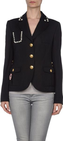 Love Moschino Blazer in Black - Lyst