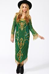 Nasty Gal Deco Tassle Beaded Dress - Lyst