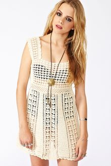 Nasty Gal Crochet Mini Dress - Lyst
