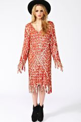Nasty Gal Deco Dreams Beaded Dress - Lyst