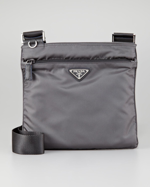 8d273ebefcaa ... usa lyst prada vela flat messenger bag in gray c5e45 07abe