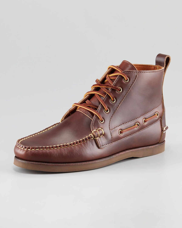 Red Ralph Lauren Boat Shoes