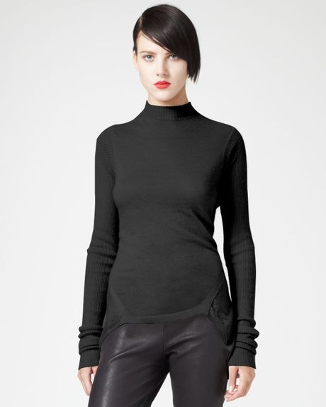 Rick Owens Peplum Top Black in Black
