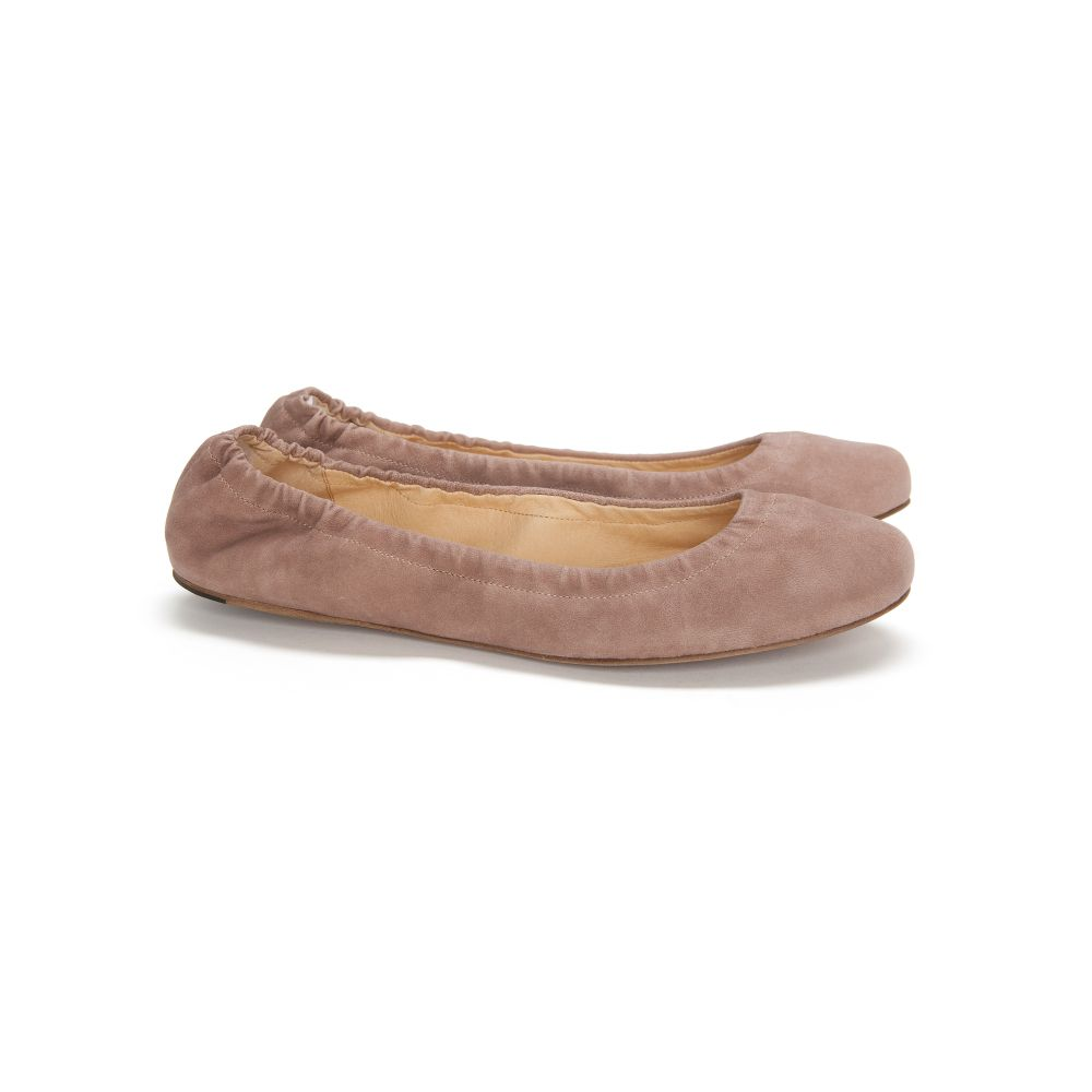 see by chlo ballet flats in brown taupe lyst. Black Bedroom Furniture Sets. Home Design Ideas