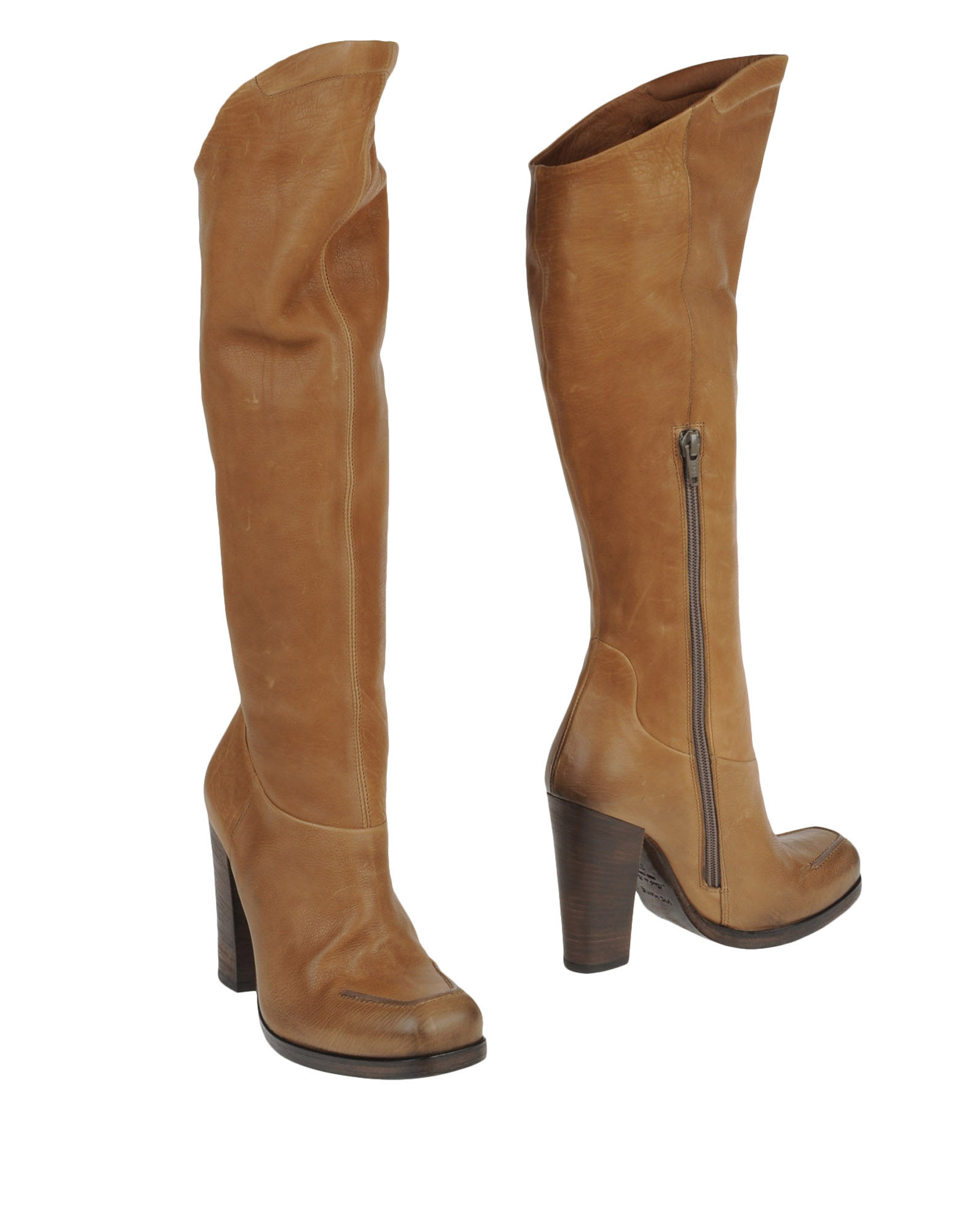 vic matie high heeled boots in brown camel lyst