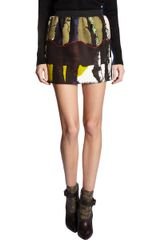 Balenciaga Birch Print Mini Skirt - Lyst