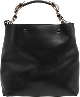 Black Slouchy Shoulder Bag - Lyst