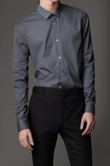 Burberry Slim Fit Cotton Shirt - Lyst