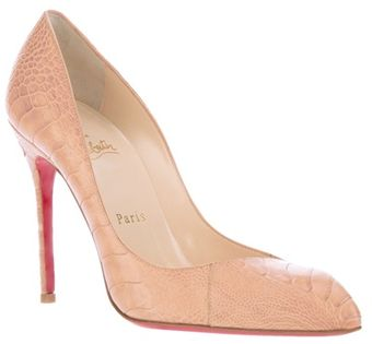 Christian Louboutin Textured Stiletto Pump - Lyst