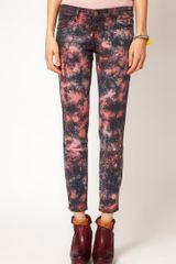 Current/Elliott The Stiletto Jean in Cosmic Tie Dye